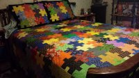 King Size Puzzle Quilt with Free Pattern