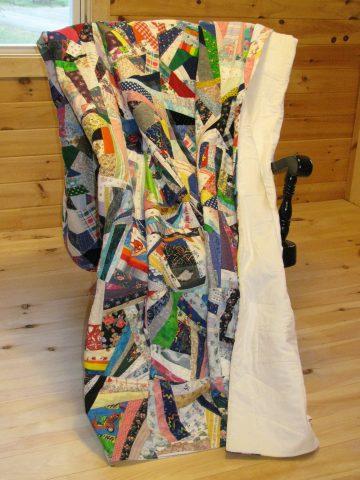 Crazy quilt scrap quilt
