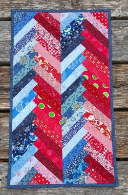 Quilted Chevrons Table Runner
