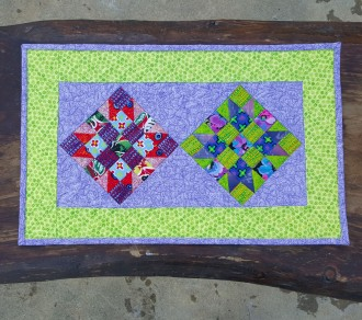 Purple Lime Table Runner