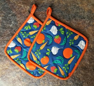 Veggies Quilted Potholder