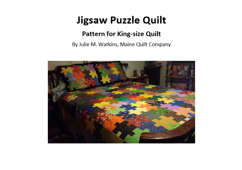 Jigsaw Puzzle Quilt Pattern PDF File